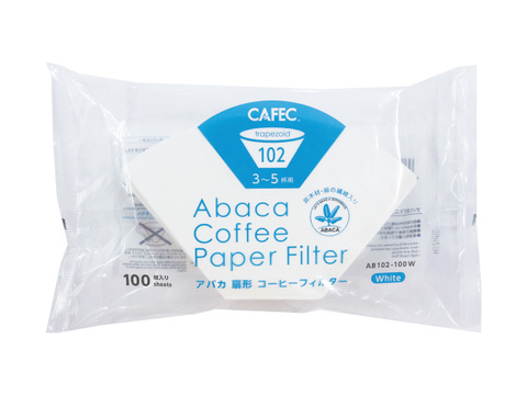 CAFECアバカ扇形ペーパーフィルター3~5杯用