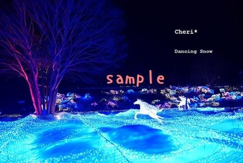 「Dancing Snow」手作りポストカードセット