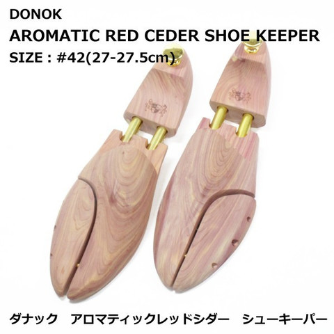 DONOK アロマティック レッドシダー シューキーパー 紳士用 #42(27-27.5cm) AROMATIC REDCEDER SHOE KEEPER オリジナル 贈り物にもおすすめ