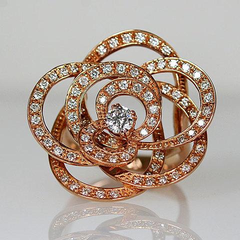 K18PG製ダイアモンドリング