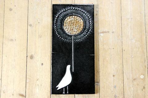 *レア*Rorstrand(ロールストランド)Sylvia Leuchovius 鳥の陶板