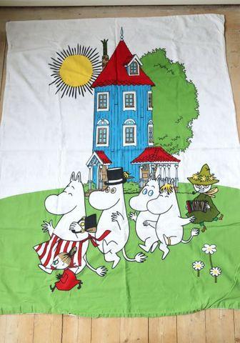 ムーミン柄の子供用デュベカバーと枕カバーのセット(105×134cm/43×38.5cm)
