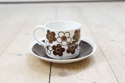 Rorstrand(ロールストランド)/Anemon(アネモン)コーヒーカップ&ソーサー(ブラウン)