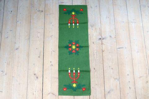 キャンドルモチーフのクリスマスプリントクロス(70.5×22.5cm)