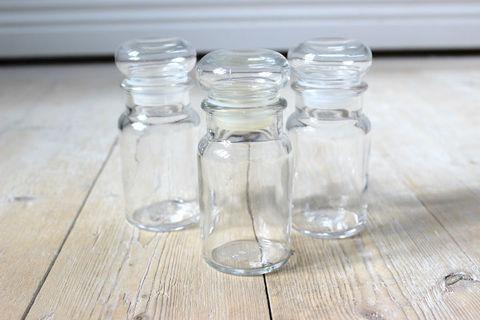 ガラスの密閉ボトル3本セット(Clear)