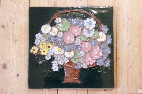 Jie Gantofta(ジィ・ガントフタ)/ AIMOデザイン 花かごの陶板(L)