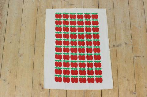 Sodahl リンゴ柄のヴィンテージプリントクロス(56.5×44.5cm)