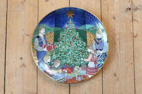 Rörstrand(ロールストランド)Julpoesi (X'masの詩)クリスマスプレート1985年