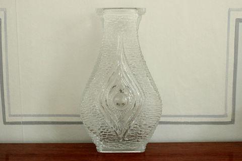 氷のようなレトロガラスの花瓶(大)