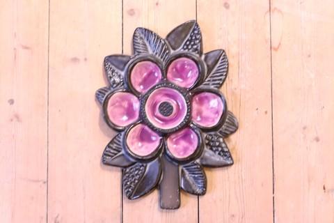 Upsala Ekeby(ウプサラエクビー)紫のお花の陶板