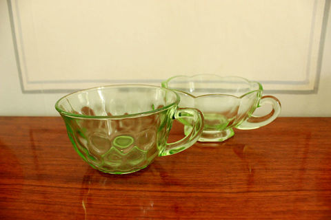 ガラスのカップ2客セット(Green)