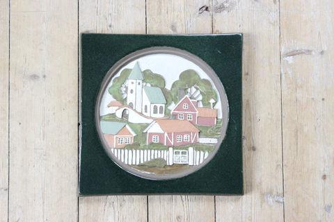 Jie Gantofta(ジィ・ガントフタ)お家と教会の陶板