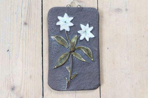 ハコベの陶板(S)