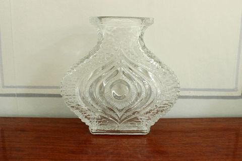氷のようなレトロガラスの花瓶(小)