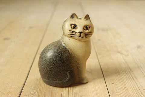 Lisa Larson(リサラーソン)/MÅNS(モンス)猫のオブジェ(S)