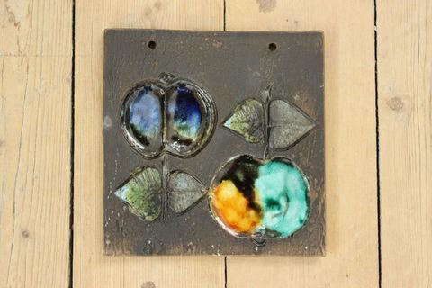 Tilgmans(ティルグマン)リンゴの陶板(正方形)