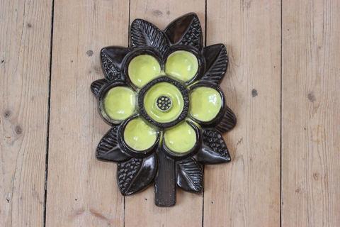 Upsala Ekeby(ウプサラエクビー)黄色のお花の陶板