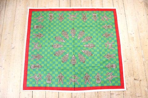 ジンジャークッキーの大判クリスマスプリントクロス/テーブルクロス(88×79cm)