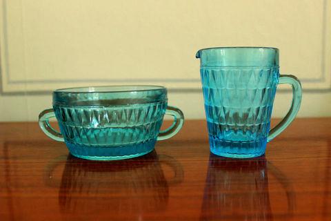 クリーマーとシュガーポットのセット(Turquoise)