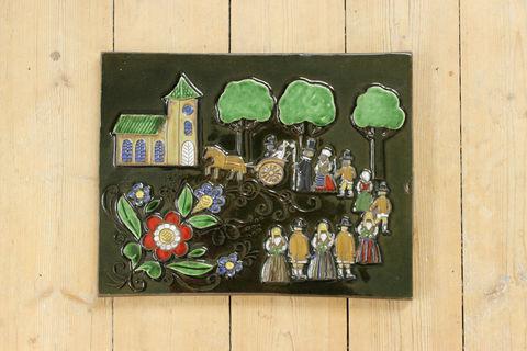 Jie Gantofta(ジィ・ガントフタ)スウェーデンの結婚式の陶板