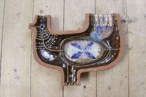 Nittsjo(ニットショー)/THOMAS HELLSTROMデザイン 鳥の陶板