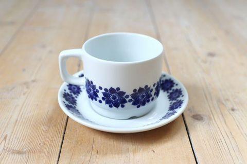Figgjo(フィッギオ)/ブルーのお花のコーヒーカップ