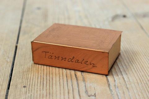 スウェーデンで見つけた銅製ヴィンテージマッチケース/マッチ箱