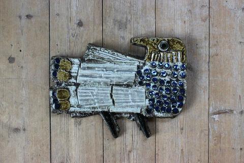 Lisa Larson(リサラーソン)/Vaggplattor  Fagel 鳥の陶板(L)