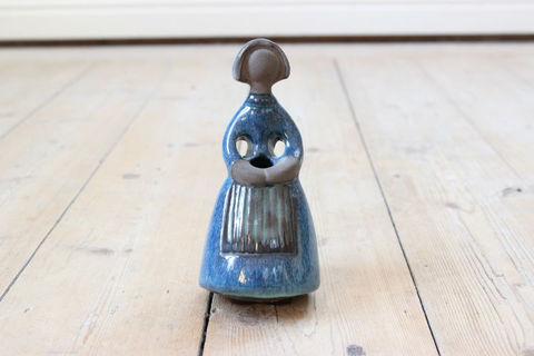 Jie Gantofta(ジィ・ガントフタ)陶器のフィギュアの一輪挿し/花瓶(ブルー・S)