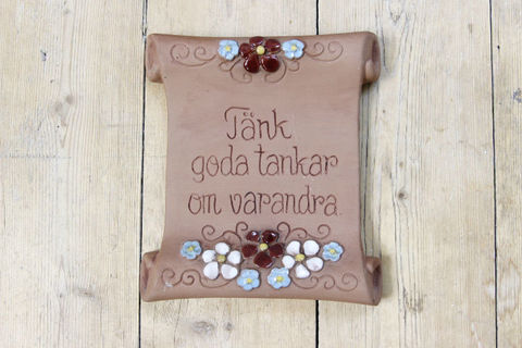 Jie Gantofta(ジィ・ガントフタ)スウェーデン語の陶板 羊皮紙(S)5