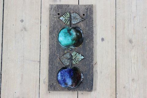 Tilgmans(ティルグマン)リンゴの陶板(グリーン/ブルー)