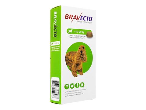 ブラベクトチュワブル錠(10-20kg)(Bravecto) 500mg