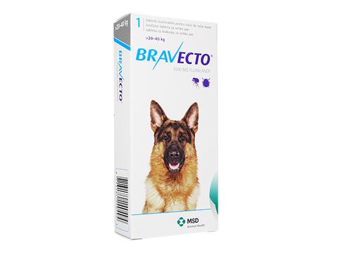 ブラベクトチュワブル錠(20-40kg)(Bravecto) 1000mg