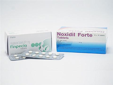 フィンペシア(キノリンイエローフリー)1mg100錠+ノキシジル10mg100錠(Finpecia+Noxidil)