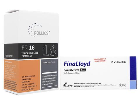 FR16クリーム+フィナロイド(Follics FR16 60ml+FinaLloyd 1mg 1box)