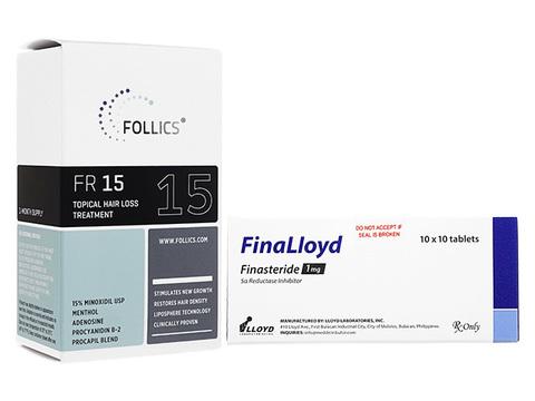 FR15ローション+フィナロイド(Follics FR15 60ml+FinaLloyd 1mg)