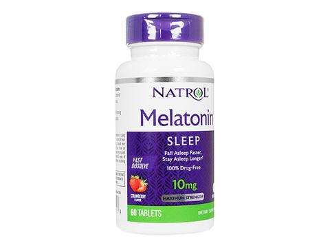 Natrol/メラトニンファストディゾルブ ストロベリー味(Melatonin FastDissolve) 10mg