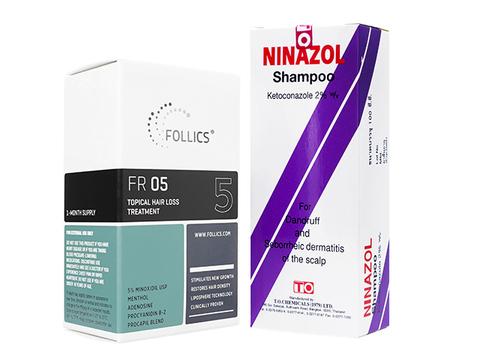 FR05ローション+ニナゾールシャンプー(Follics FR05 60ml+Ninazol Shampoo 100ml)