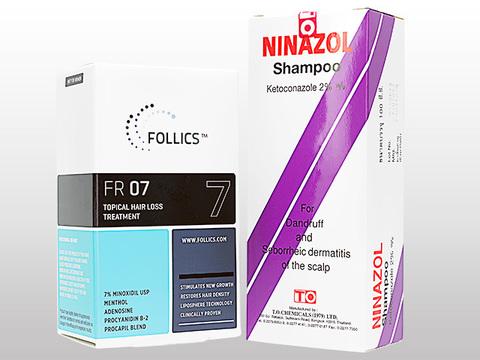 FR07ローション+ニナゾールシャンプー(Follics FR07 60ml+Ninazol Shampoo 100ml)
