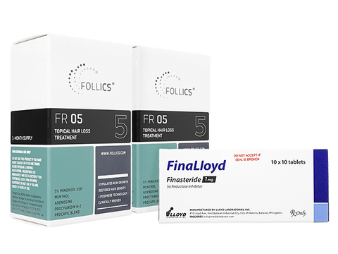 FR05ローション2本+フィナロイド(Follics FR05 60ml+FinaLloyd 1mg)