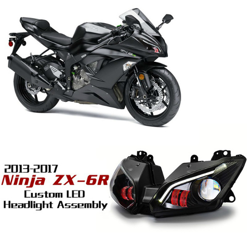 ZX6R 13-17 HIDプロジェクターキット Ver.2