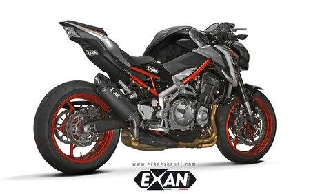EXAN Z900 OVAL X-BLACK スリップオンマフラー