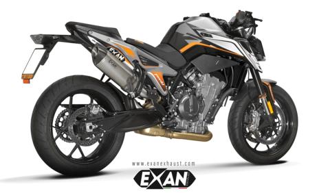 EXAN DUKE 790 OVAL X-BLACK スリップオンマフラー