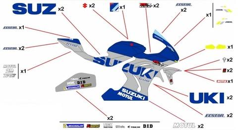 GSX-R1000 17-20 MotoGP 2020 グラフィックステッカー