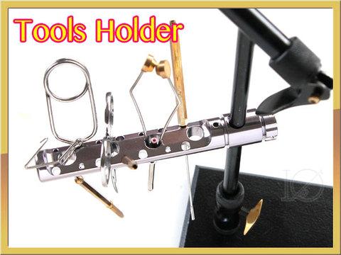 フライ バイス用ツールホルダー Tools Holder マシンカットアルミ シルバー