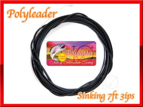 【イオ】 ポリリーダー 7ft Black sinking シンキングライン 3ips