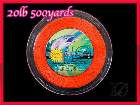 フライ用 バッキングライン 500yard オレンジ 20lbs