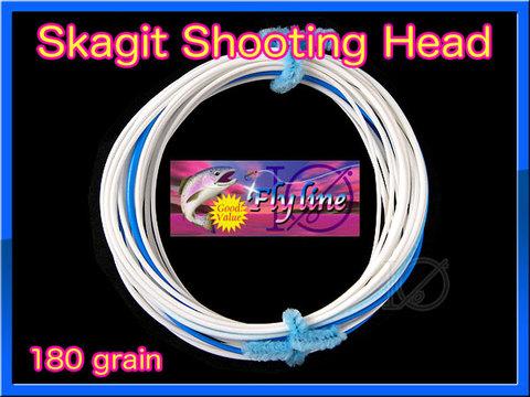 【イオ】 スカジット シューティングヘッド Skagit 180 grain white&blue