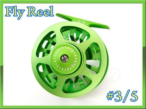 フライリール #3/5 ライトグリーン 綺麗な緑色 ディスクドラグ付
