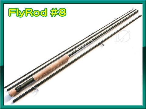 フライロッド 4ピース #8 オリーブカラー 9FT